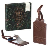 Wild & Wolf Luggage Tag Set Walnut Brown