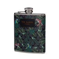 Wild & Wolf Jungle Print Hip Flask
