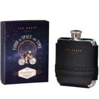 Wild & Wolf Black Brogue Hip Flask